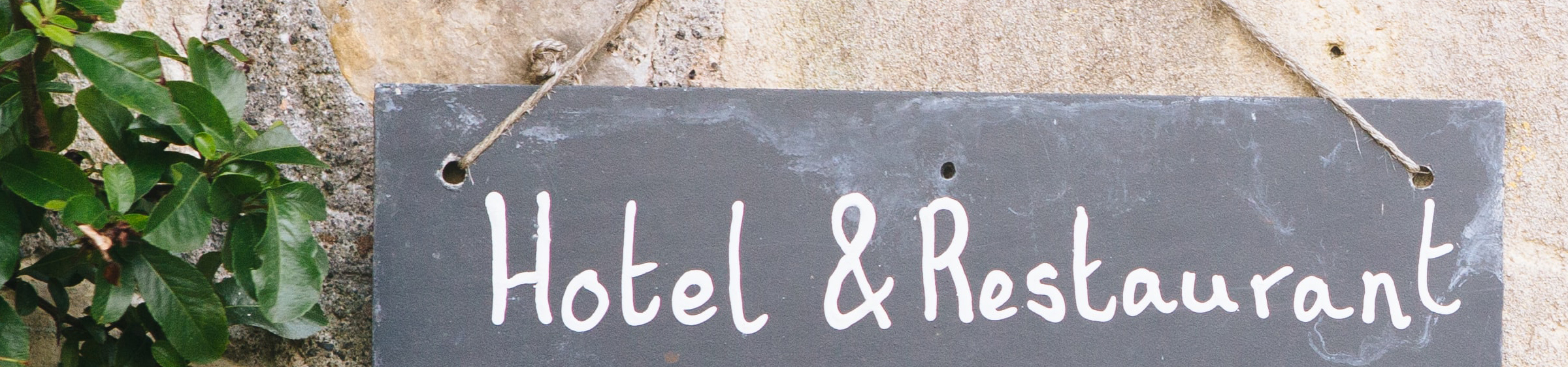 Hotel & Restaurant sign