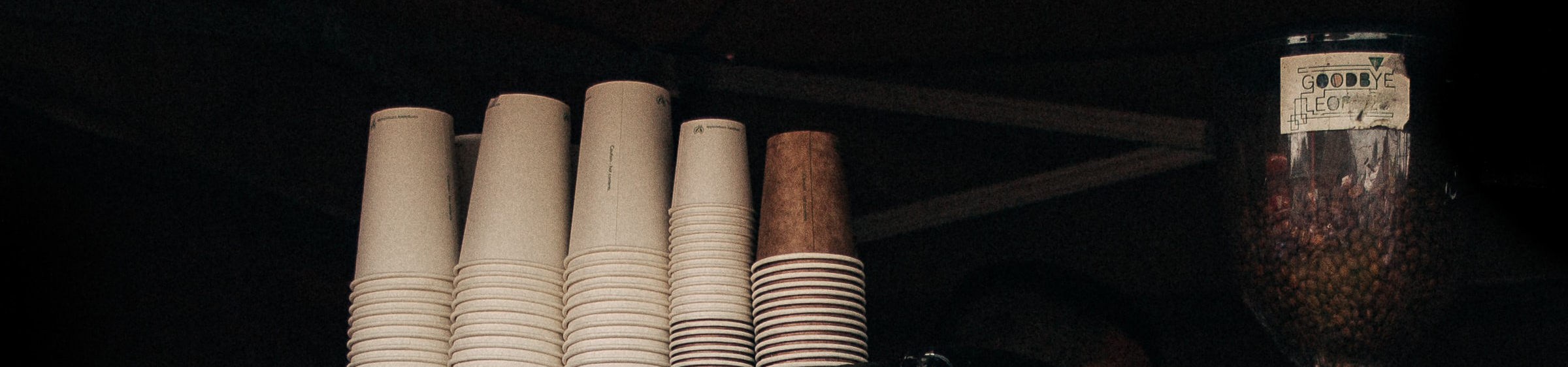 Coffee cups & coffee beans